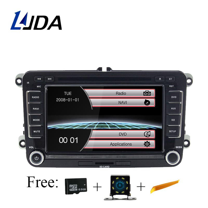 LJDA Car DVD Player for <font><b>VW</b></font> <font><b>Golf</b></font> <font><b>6</b></font> <font><b>Golf</b></font> 5 Passat b7 cc b6 SEAT leon Tiguan Skoda Octavia T5 Multimedia GPS <font><b>2</b></font> <font><b>Din</b></font> Car Radio Canbus image