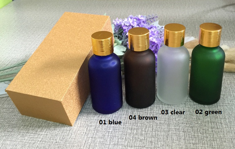 4pcs 30ml High-grade frosted essential oil bottle with wooden box packing gold cap glass bottle,lotion cosmetics powder jar cosmetics 50g bottle chinese herb ligusticum chuanxiong extract essential base oil organic cold pressed