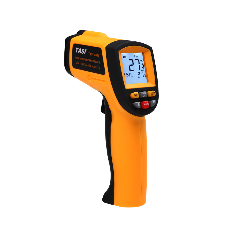 TASI-8610 Infrared Thermometer ,Non-contact thermometer (-50 ~ 700 degrees), Industrial temperature measurement  with tool Box tasi 8606 infrared thermometer 32 380 degrees infrared thermometer non contact thermometer industrial and household