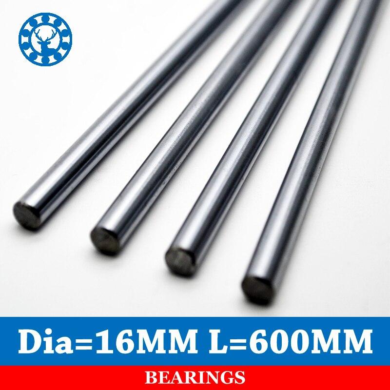 1 pc axe linéaire Chrome OD 16mm longueur 600mm WCS tige ronde en acier barre cylindre linéaire Rail