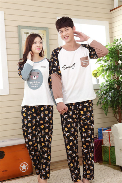 Aliexpress.com : Buy Plus Size Couple's Lovely Print Character ...