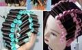 2 сумки (16-20 шт)/лот холодный Плойка для завивки бигуди для волос Ролики пластмассы полый сердечник Flexi стержень парикмахерские инструменты bigoudis magique бигуди - фото