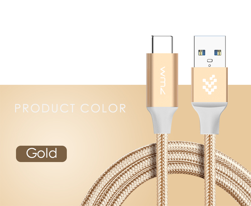 USB Type-C 3.0 Red Braided Cable 13