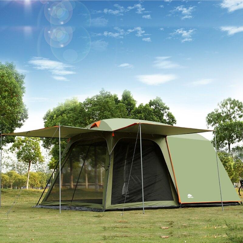 Autentyczne 4-8 osób na zewnątrz Camping 1 hala 1 sypialnia przeciwdeszczowy wiatr duży podróżny namiot kempingowy w dobrej jakości duża przestrzeń