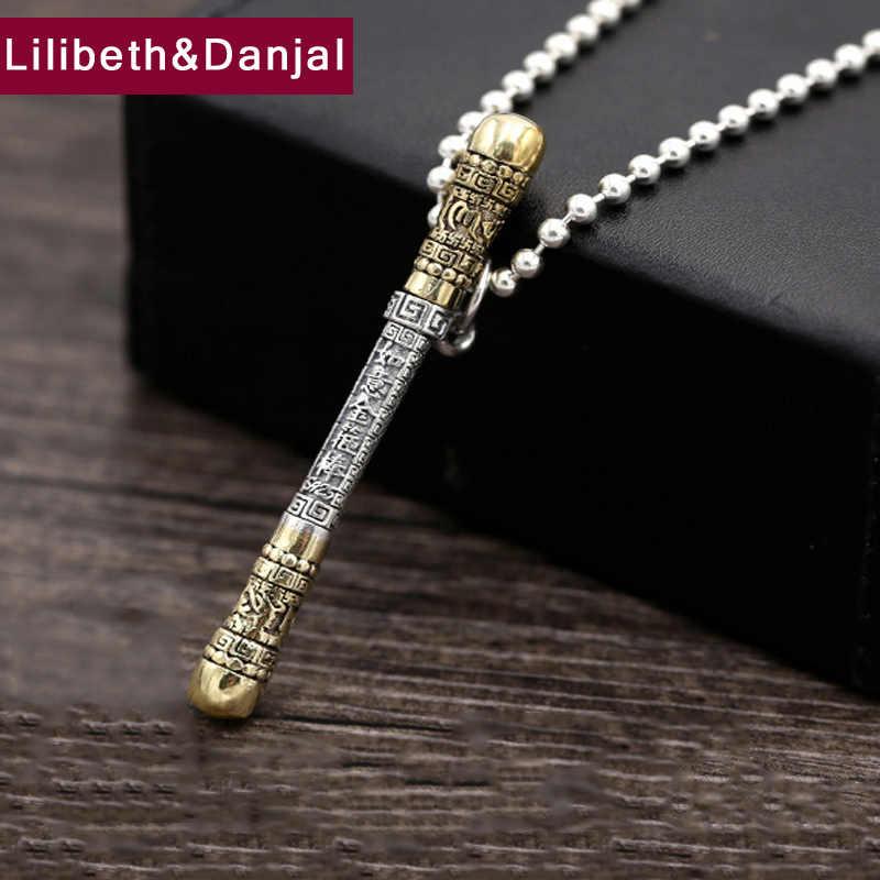 Mężczyzna naszyjnik 100% prawdziwe 925 sterling silver podróż na zachód wisiorek naszyjnik z koralików prezent kobiety fine jewelry N5