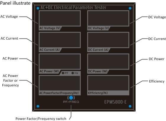 EPM5800-E medidor de potência ac cc medidor