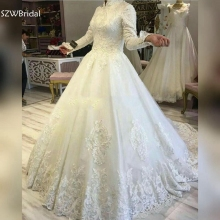 SZWBridal Muslim Wedding dress Bride dress gowns