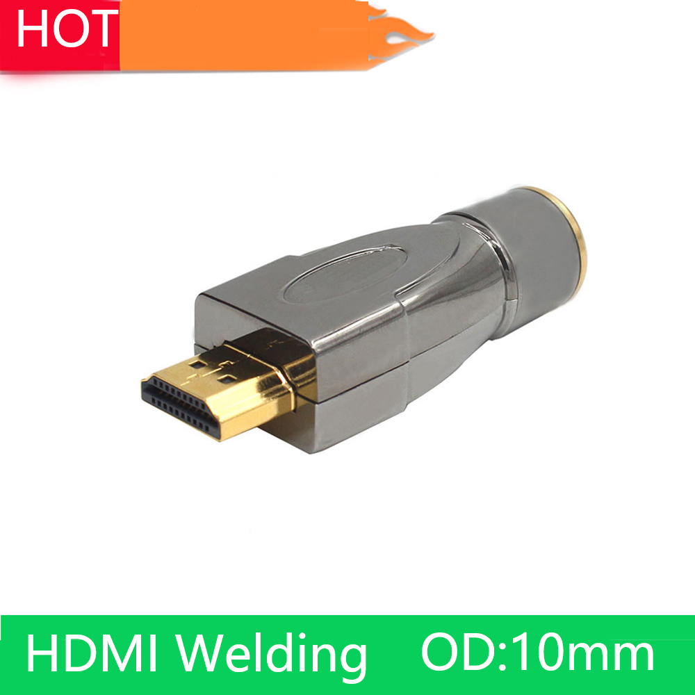 2pcs/lot HDMI welding adapter hdmi plug head version 2.0 3D 4k DIY scattered line plug suit for HDMI cable