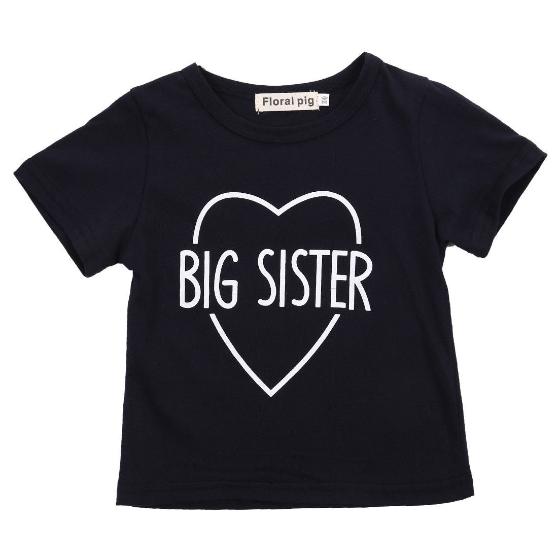 Baby boys girls short sleeve t-shirt,summer kids clothes,cotton letter printed ,Black Brother Sister child tops tees 3-36 M