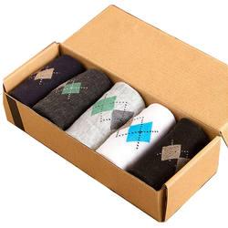Лидер продаж мода новый бренд качество для мужчин носки для девочек Классическая ромб печати бизнес повседневное соответствующий носок