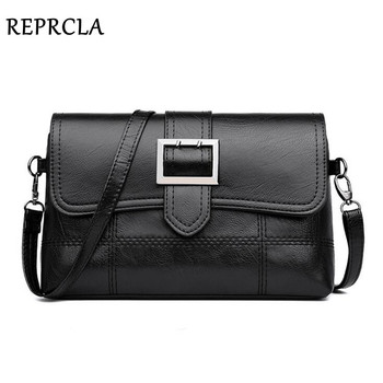 REPRCLA Brand Designer Women Shoulder Bag Fashion Handbag and Purse PU Leather Crossbody Bags for Women 2019 New Black&Red