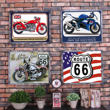 Route 66 Car Number License Plate USA BRA CHE Vintage Metal Poster Tin Signs Bar Club Garage Home Wall Decoration 1001