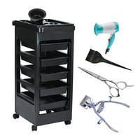 New Drop Shipping 2016 Beauty Salon Trolley Station Equipment Rolling Storage Removable Tray Cart Quality