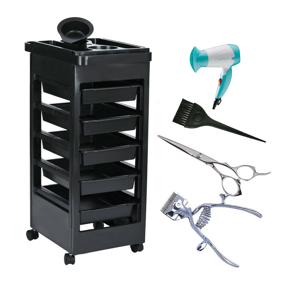 New drop shipping 2016 beauty salon trolley station for Salon furniture makeup station