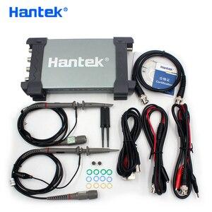 Image 1 - Hantek Official 6074BD USB Oscilloscopes 4 Channels 70Mhz Osiclloscope Digital PC Handheld Osciloscopio + 25Mhz Signal Generator