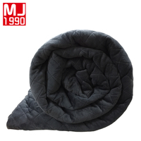 New American Style Weighted Blanket Dark Grey Crystal Velvet Quilting Duvet Cover Decompression Insomnia Conditioning Cotton