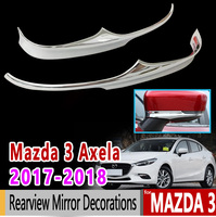 for Mazda 3 Axela 2017 2018 BN Chrome Rearview Mirror Decorations Luxury High Quality Accessories Car Sticker Sticker