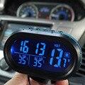 2016 LCD Digital Car Reloj Termómetro Reloj Despertador Tensión 12 V-24 V Suministro Luminoso Reloj Electrónico Del Coche