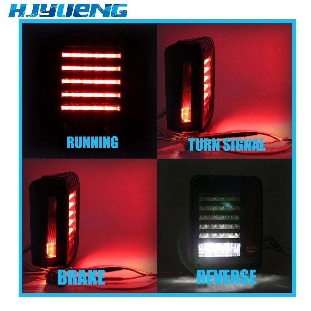 Image 3 - Tail Lights Kit Turn Signal Taillight Daytime Running Lights For Jeep Wrangler JK 07 17 LED Brake Reverse Stop Parking Backup-in Car Light Assembly from Automobiles & Motorcycles