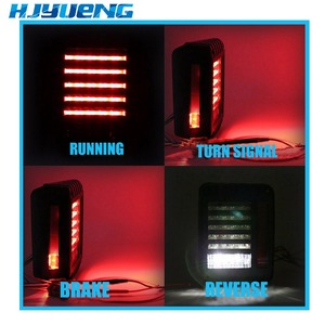 Image 3 - Tail Lights Kit Turn Signal Taillight Daytime Running Lights For Jeep Wrangler JK 07 17 LED Brake Reverse Stop Parking Backup