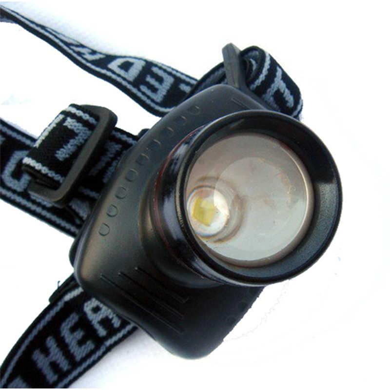 Z20 súper brillante Mini linterna de cabeza LED de 3 modos de ahorro de energía para exteriores, luz de cabeza deportiva para acampar y pescar