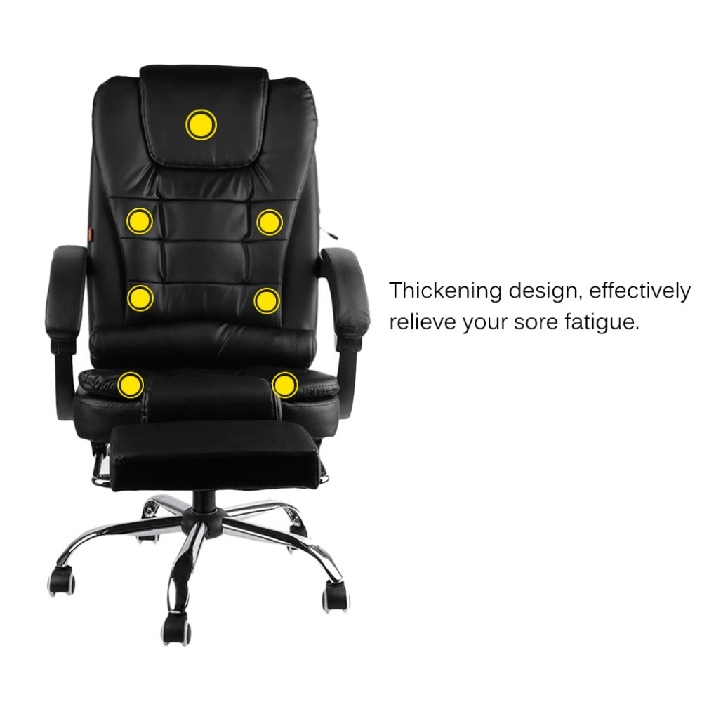 Comfortable Home Office Lie Down Computer Chair Gaming Chair Body Massage Wear-Resistant Ergonomic Chair boss chair real leather computer chair home massage can lie in the leather chair solid wood armrest office chair 06