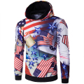 2017 New Hoodies Men Sudaderas Hombre Hip Hop Mens Brand USA Flag Stars Printed Hoodie Sweatshirt Suit Slim Fit Men Hoody