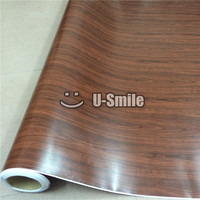 Wood Vinyl Wrap Sticker For Auto Interior Furniture Wall Size 1 52X20m Roll