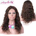 """Angelbella pelucas de cabello virgen onda natural del pelo humano del frente del cordón pelucas #2 brasileño peluca 12 """"-16"""" Instock Venta Pelucas Del Frente Del Cordón Humano"""