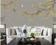Marvelous Benutzerdefinierte Chinesischen Tapeten, Ginkgo Blume Und Vogel Wandbilder  Für Wohnzimmer Schlafzimmer Sofa Hintergrund Dekorati.