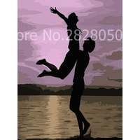 Man Holding The Woman Lovers DIY Painting By Numbers Kits Coloring Painting By Numbers Hand Painted Home Wall Art Picture