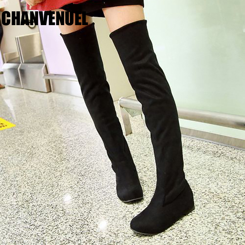women shoes 34 44 long boots flats boots round suede 2017 new women boots long over the knee boots fashion plus size ppnu woman winter nubuck genuine leather over the knee snow boots women fashion womens suede thigh high boots ladies shoes flats