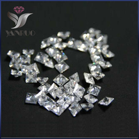 Glitter Shiny 4447 500pcs 3mm Unfoiled Square White Shiny Cubic Zirconia Stone Diamond Diamant Gems Nails