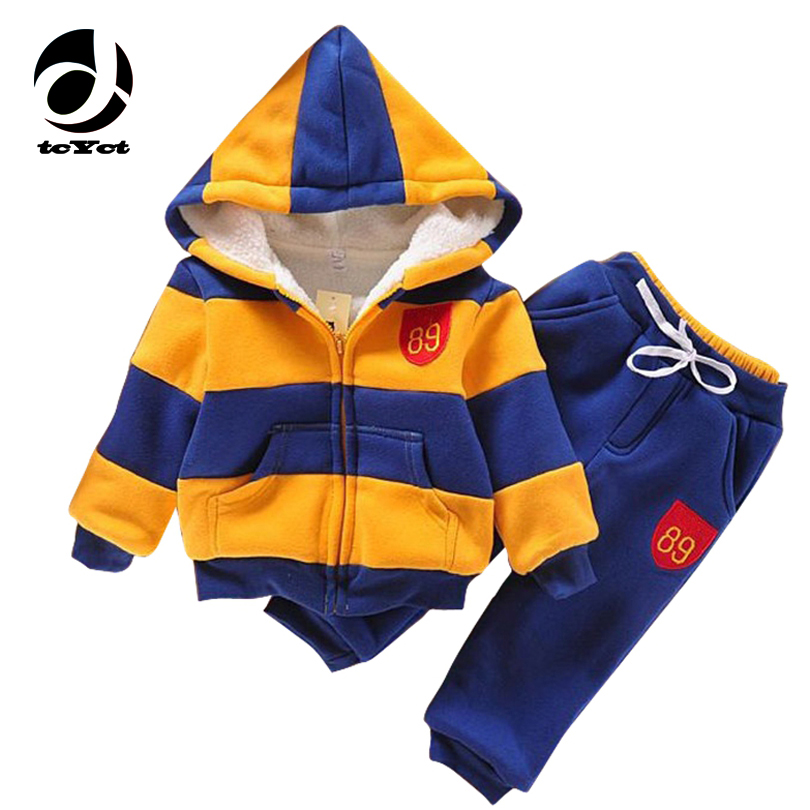 2017 sports suit jacket sweater coat & pants thicken kids clothes set Hot sell boys girls children winter wool clothing set 2017 new boys clothing set camouflage 3 9t boy sports suits kids clothes suit cotton boys tracksuit teenage costume long sleeve