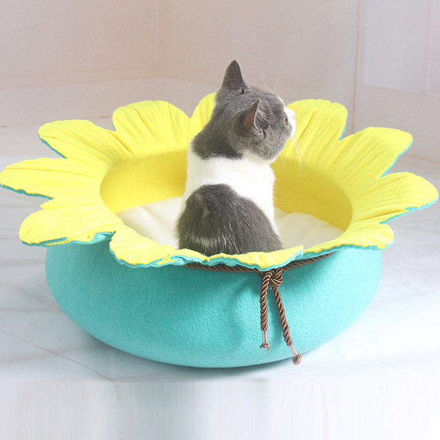 New Pet Dog Cat Fashion Flower Style Bed Doggy Lovely Flouncing House Puppy Kennels Supplies Dogs