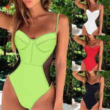 Peachtan Sexy white bikini push up swimwear 2019 bathing suit women bathers swimsuit one piece Monokini swimming suit summer new