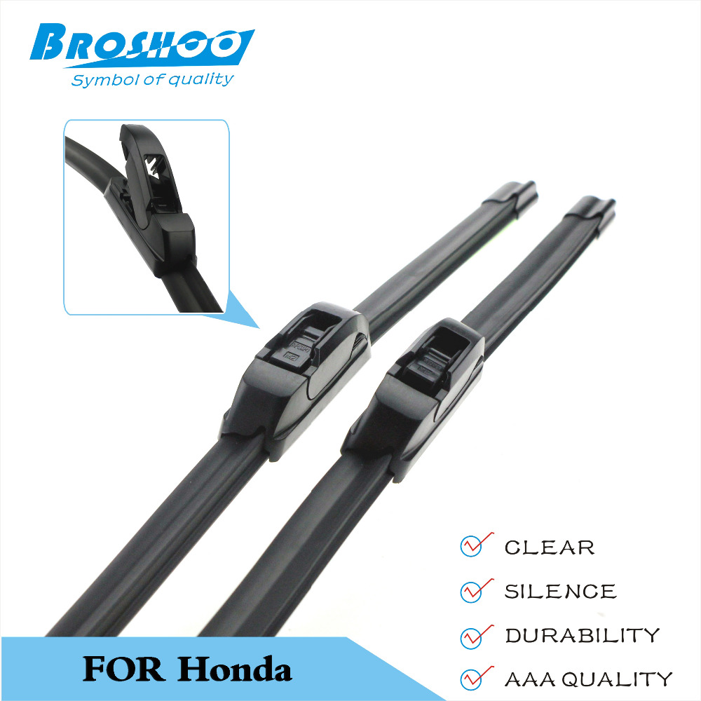 Broshoocar wiper blade for honda fit 26 14 inch soft rubber auto part windscreen