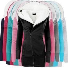 ZOGAA женские куртки, хлопковое пальто, длинные тонкие парки с капюшоном, женская теплая шерстяная куртка размера плюс, верхняя одежда, флисовая бархатная одежда