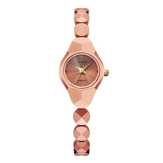 f34cb5f7de1f 2017 Fashion BlDEN Brand Luxury Watch Women Tungsten Rose Gold Bracelet Watch  Quartz Small Wristwatch Relogio