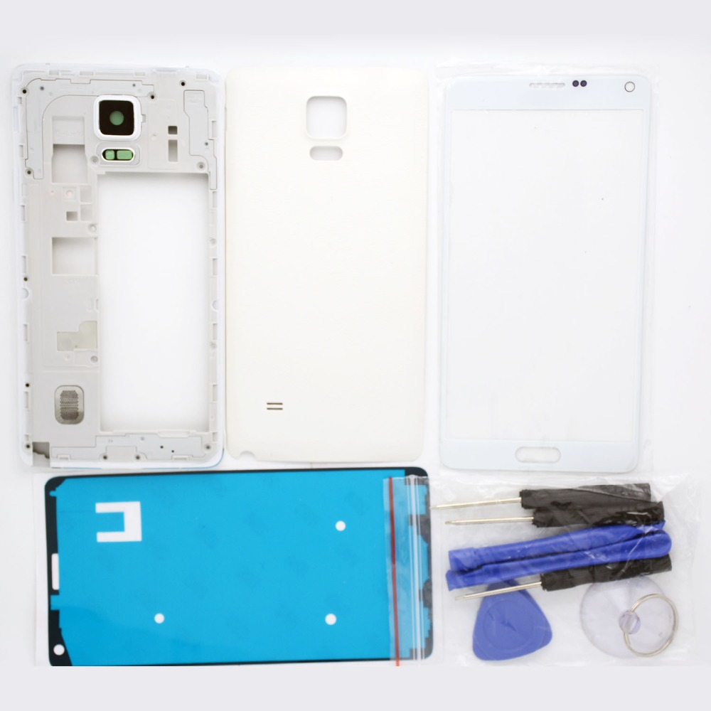 Panbon Replacement Spare parts For Samsung Galaxy Note 4 N910F/P/M Full Housing Sets Frame & back cover & front glass & tools