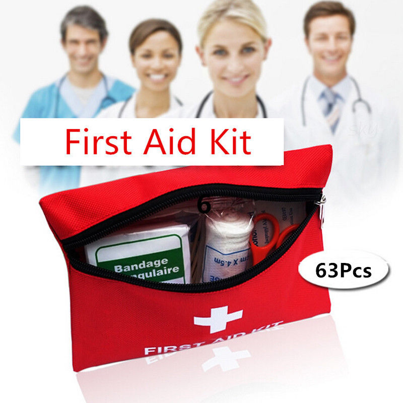 63pcs/set First Aid Emergency Kits Y Survival Bag Car Home Medical Bag Travel Outdoor Sports Treatment Pack Wilderness Wide Varieties