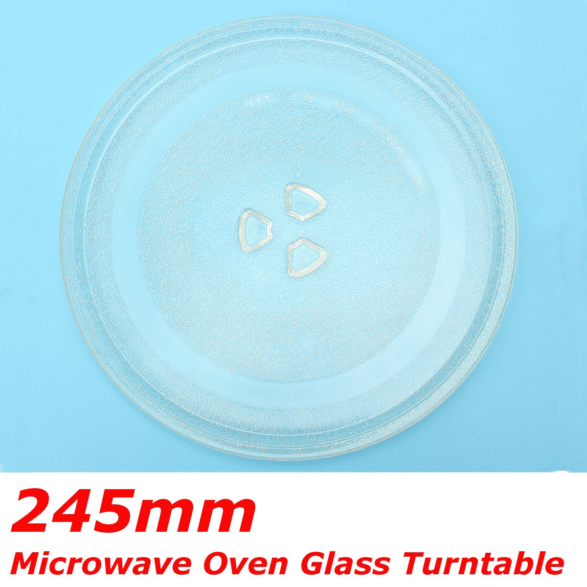 245mm Microwave Oven Glass Disc Tray Turntable Y Type Bottom Flat Pallet Plates For Midea And Other Thicken