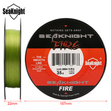 SeaKnight FIRE 300M Fishing Line Fire Filament Line Smooth PE Fire Fishing Line MONO Floating Line Saltwater/Freshwater 6-40LB