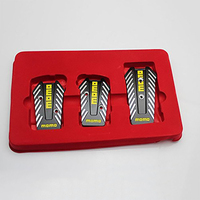 3 PCS 1 Set MOMO Style Nero Car Racing Pedals Universal Manual Brake Pedal Foot Pedal