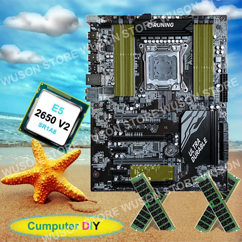 A + + qualität computer hardware liefern Runing super X79 motherboard Intel Xeon <font><b>E5</b></font> <font><b>2650</b></font> <font><b>V2</b></font> 2,6 ghz RAM 32g (4*8g) 1600 mhz DDR3 RECC image