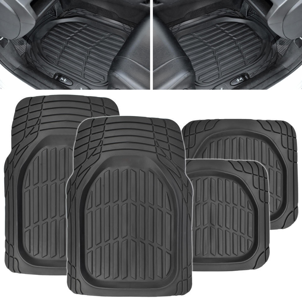 PVC Car Floor Mats Waterproof Non slip Universal Environmental Protection Foot Pads Automobile Carpet Cover 4