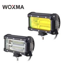 WOXMA work led bar 4×4 Off road 5inch work light 72W Car Flood Offroad Truck SUV ATV 12V 24V Yellow Driving work light Fog Lamp