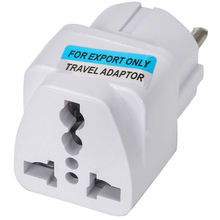 цена на New UK US AU To EU European Charger Power Socket Plug Adapter White Universal Travel Converter