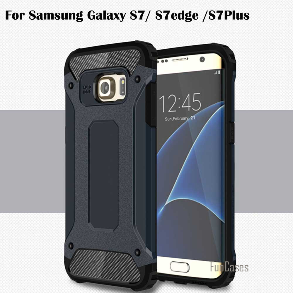 Ultra Thin For Samsung Galaxy S7 S7edge S7Plus Case TPU PC Material 2 in 1 Combo Militar ...