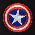 Clothes baby patch iron on patches for clothing 5.6cm Captain America's shield Diy Jacket Shirt Polo Cap Jeans Free shipping